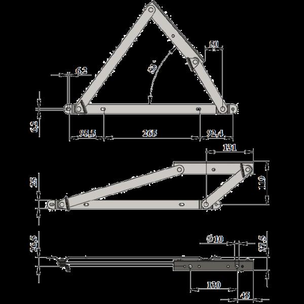 Механизм подъемный пружинный М-4031