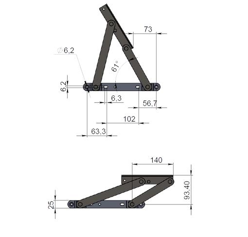 Механизм подъемный пружинный М-4091Г