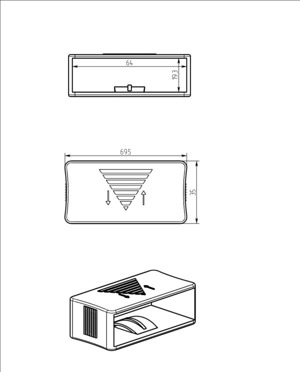 Курсор для ламелей 63 мм