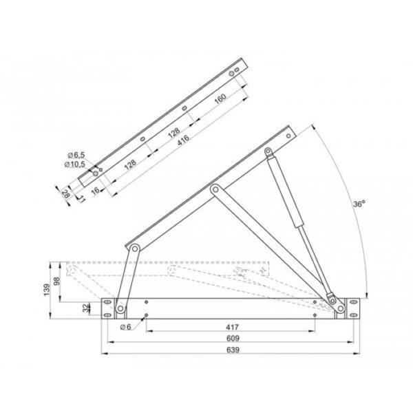 Механизм для бельевого ящика