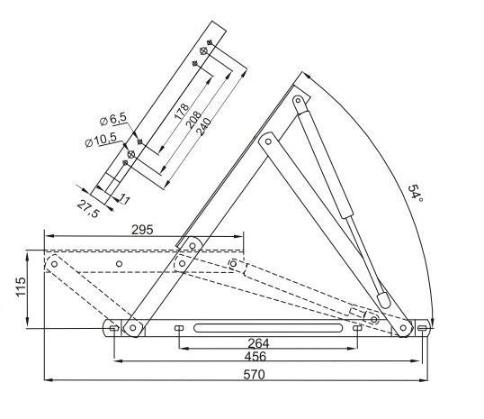 Размеры механизма 592