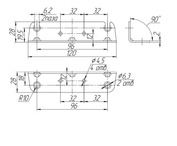Уголок стяжки кроватной СК-2