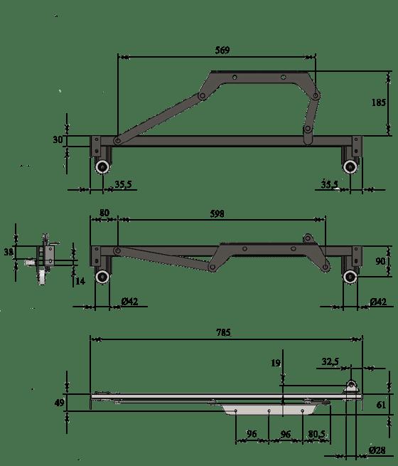 Механизм выкатной Венеция 4051-19
